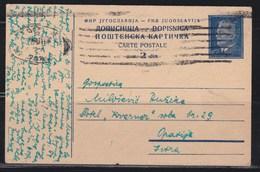 Yugoslavia 1950 Marshal Tito Postal Stationery Beograd-Opatija - Ganzsachen