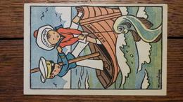 ILE DE FRANCE, L'ATLANTIQUE, ENFANTS MARINS, Signée Maurice LEMAINQUE, PUB POUR MANGER DU POISSON - Other Illustrators