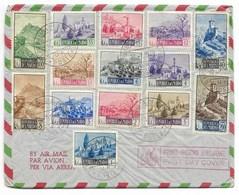 REPUBLICA DI S.MARINO 27.1.1949 / N° 320/329-330/331-332/333 (329 Trou) ...1er Jour... - Saint-Marin