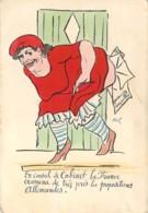 Carte Satirique Grivoise Guerre 1914 Le Conseil De Cabinet Refuse Les Propositions Allemandes Par CHAV - Humour