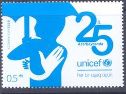 2018. Azerbaijan, UNICEF, 25y Of Membership, 1v,  Mint/** - Azerbaïdjan