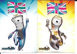 JEUX OLYMPIQUES LONDRES 2012 MASCOTTE OLYMPIQUE - 2CP-  OLYMPICS GAMES  LONDON OLYMPIC MASCOT - Jeux Olympiques