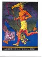 JEUX OLYMPIQUES BERLIN 1936 PARCOURS FLAMME OLYMPIQUE-  OLYMPICS GAMES  BERLIN OLYMPIC FLAME - REPRODUCTION - Jeux Olympiques