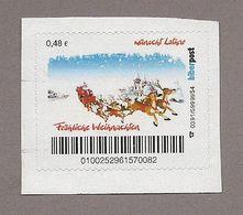"""Privatpost - Biberpost - """"Fröhliche Weihnachten"""" / Renntierschlitten Mit Weihnachtsmann - [7] Federal Republic"""