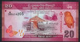 SRI LANKA P P123b 20 RUPEES 2015 UNC. - Sri Lanka