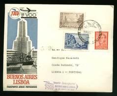 Portugal Premier Vol Buenos Aires Argentine Lisbonne 1967 First Flight Argentina Lisbon - Poste Aérienne