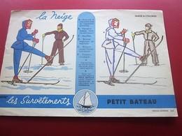 SURVETEMENTS PETIT BATEAU IMAGE A COLORIER  BUVARD Collection Illustré Publicitaire Publicité Textile & Vestimentaire - Textile & Vestimentaire