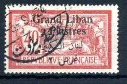 1924-25 GRAN LIBANO N.31 USATO - Used Stamps