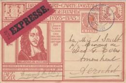 Bildpostkarte Johan De Witt (Wertstempel Königin Wilhelmine) In EXPRESS-Verwendung, 1931 - Entiers Postaux