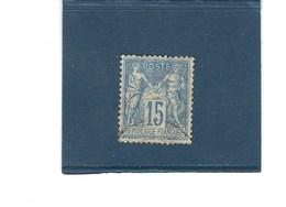 France  :  N° 90   O     Val YT : 2,00  € - 1876-1878 Sage (Type I)