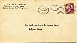 USA Cover Quincy Mass 2-5-1933 - Etats-Unis