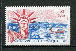 SPM MIQUELON 1986 N° 471 ** Neuf MNH Superbe C 2.20 € Statue De La Liberté New York Port Bateaux Ships Sailboat - Neufs