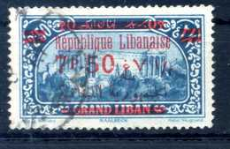 1928-29 GRAN LIBANO N.120 USATO - Used Stamps