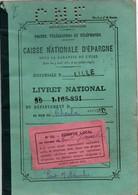 Livret Caisse Nationale épargne Pont Sur Sambre 1938 - Grosse Perforation CNE Perforé - 2 Scans - Format 14 X 20 Cm - Chèques & Chèques De Voyage