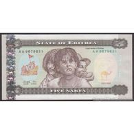 TWN - ERITREA 2 - 5 Nakfa 24.5.1997 Prefix AA UNC - Eritrea
