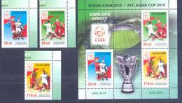 2019. Kyrgyzstan, Football, Asian Cup 2019, 4v + S/s Perforated, Mint/** - Kirgisistan