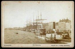 Nederland / Netherlands: Rotterdam, De Boompjes (Kabinetfoto) Cca1880 - Plaatsen