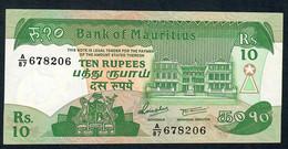 MAURITIUS P35 10 RUPEES 1985 # A/87      AU-UNC. - Mauritius