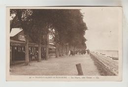 CPSM SAINT VALERY SUR SOMME (Somme) - La Digue Côté Ouest - Saint Valery Sur Somme