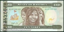 TWN - ERITREA 3 - 10 Nakfa 24.5.1997 Prefix AA UNC - Eritrea