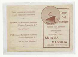 Tabella Das Partidas Dos Expressos De Grande Luxo ''Lutetia'' E ''Massilia'' - Europe
