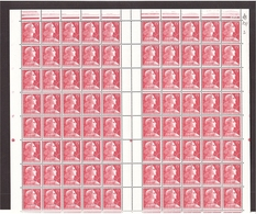 Marianne MULLER Feuille Yvert 1011 1955 FEUILLE ENTIÈRE De 100 Datée ** - 1955- Marianne Of Muller