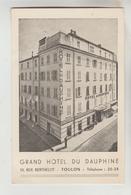 CPSM TOULON (Var) - Grand Hôtel Du Dauphiné 10 Rue Berthelot - Toulon