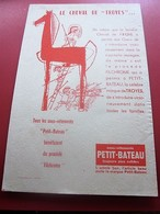 SOUS VETEME PETIT BATEAU LE CHEVAL DE TROYES- BUVARD Collection Illustré Publicitaire Publicité Textile & Vestimentaire - Textile & Clothing