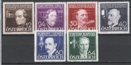 Austria 1936 Unif.489/94 **/MNH VF/F - 1918-1945 1st Republic