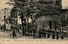 """75 - PARIS - Vieux Montmartre - Cabaret Du """"Lapin Agile"""" Et Le Dernier Porteur D'eau - Distrito: 18"""
