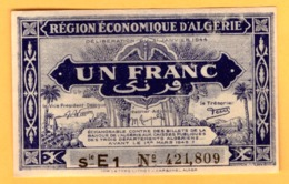 Algeria  1  Franc 1944 - Pick 98b  VF+ - Algérie