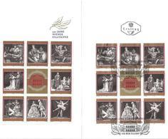 3005c: Österreich 1969, Staatsopernblock, Einmal Postfrisch ** Und Einmal Gestempelt Im Folder - Blocs & Feuillets