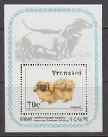 D90328 Transkei South Africa 1993 Dogs PEKINGESE M-s MNH - Afrique Du Sud Afrika RSA Sudafrika - Transkei