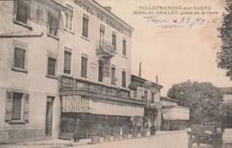 Villefranche Sur Saone- Hôtel Du Chalet , Place De La Gare   - Scan Recto-verso - Villefranche-sur-Saone