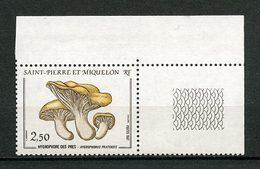 SPM MIQUELON 1987 N° 475 ** Neuf MNH Superbe C 2.20 € Champignons Mushrooms Flore Hygrophore Des Prés - Neufs