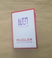 Echantillon Sample Perfume Card ALIEN FUSION * EDP 1,2 Ml * THIERRY MUGLER - Parfums - Stalen