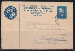 Yugoslavia 1949 Marshal Tito Postal Stationery Ljubljana-Beograd - Postal Stationery