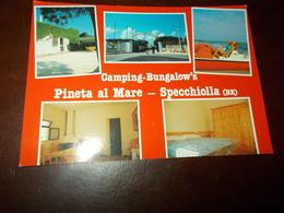 B721  Specchiolla Brindisi Camping Non Viaggiata - Italia