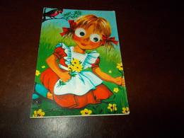 B721  Illustrazione Bambini Non Viaggiata Pieghina Ad Angolo - Bambini