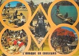 AFRIQUE EN COULEURS - Multi Vues (pirogue Marché )( Editions : IRIS EXPORT 8337) *PRIX  FIXE - Non Classés