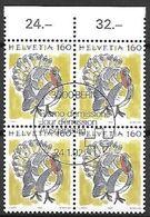 Schweiz Suisse 1992: Tiere Animaux Zu 795 Mi 1462 Truthahn Dindon Turkey (Meleagris Gallopa) Block Mit ET-o BERN 24.1.92 - Gallinacées & Faisans