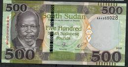 SOUTH SUDAN P16 500 POUNDS 2018     UNC. - Südsudan