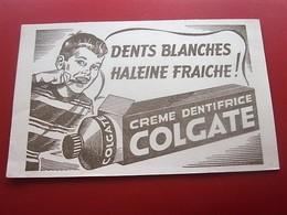 DENTIFRICE COLGATE DE CHRISTIAN MERRY - BUVARD Collection Illustré Publicitaire Publicité Parfums & Beauté - Perfume & Beauty