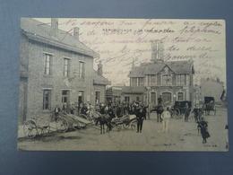 Cpa  BERCK-PLAGE -  La Gare Et La Poste. Animée - Berck