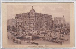 Amsterdam Victoria Hôtel Reserveringsbevestiging Hotel Tram Schepen Levendig # 1922   1691 - Amsterdam