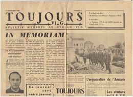 N°1 Du 1er Novembre 1945 : TOUJOURS VI G : Bulletin Mensuel Du Stalag VI G - Journaux - Quotidiens