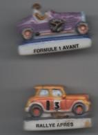 Lot 2 Fèves  Rallye Après Et Formule 1 Avant - Sports