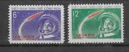 VIETNAM - 1961 - YVERT N° 228/229 NEUFS - COTE = 36.5 EURO - GAGARINE / COSMOS - Vietnam