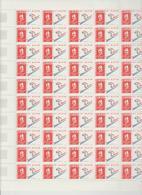 Surtaxe Non Comptée Faciale 19 Eur ; Feuille De 50 Tbs à 2.50 Fr N° 2710 (cote 65 Euros) - Feuilles Complètes