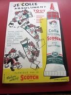 COLLE SCOTCH -BUVARD Collection Illustré Publicitaire Publicité  Papeterie LIBRAIRIE FOURNITURE SCOLAIRE - Stationeries (flat Articles)